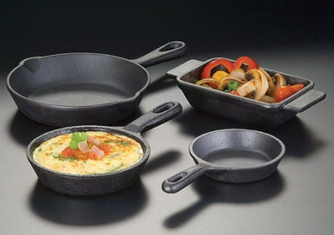 American Metalcraft 5 Inch Cast Iron Frying Pan