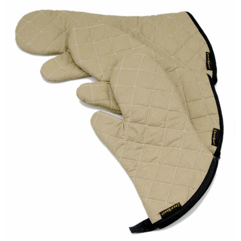 San Jamar 15IN Not Stick Tan Teflon Oven Mitt