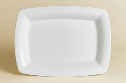 Steelite 10 x 7 Inch White Rectangle Platter