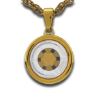 SM GOLD DOUBLE-CELL PENDANT - perfect mix of beauty and protection