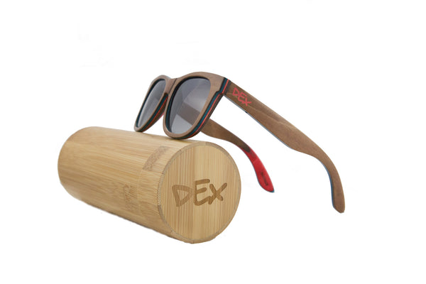 Dex Shades Recycled Skateboard Sunglasses - Black
