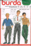 6200 Sewing Pattern Burda Boys Pants Pleated Front 10 12/14 16 18 20