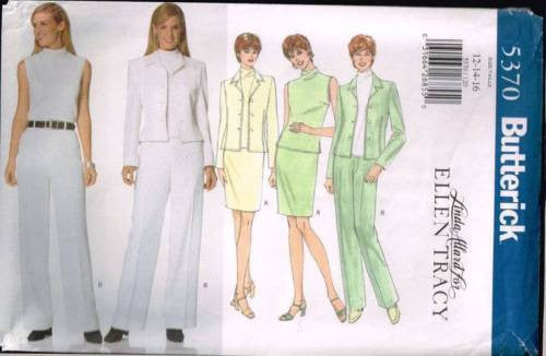5370 Sewing Pattern Butterick Ladies Top Skirt Pants Jacket 12 14 16