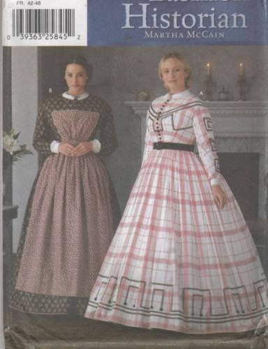 7212 Sewing Pattern Ladies Historic Dress and Pinney 6 8 10 12