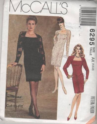 6295 Sewing Pattern McCall's Ladies Fancy Dress 4 6 8