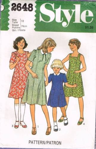 *2648 Sewing Pattern Style Girls Princess Seam Dress 12
