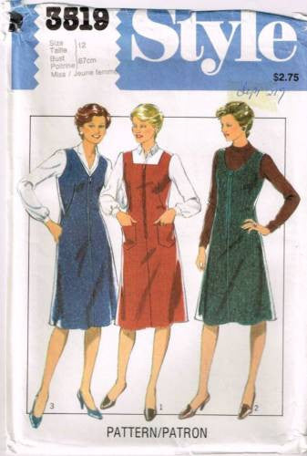 3519 Sewing Pattern Ladies Jumper Dress 12