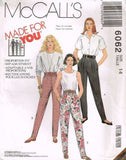 6062 Sewing Pattern McCall's Ladies Made to Fit Pants 14
