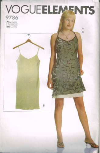 9786 Sewing Pattern Vogue Ladies Dress 6 8-10 12-14 16-18 20-22