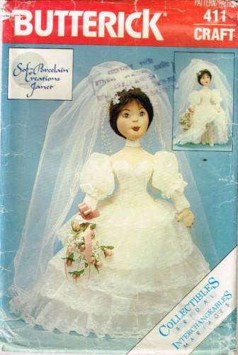 "*0411 / 4003 Sewing Pattern Bridal Collection Wedding Bride Doll 22"" +"
