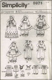 "*5971 Sewing Pattern Faith Van Zanten 14"" Bunnies Bunny Rabbits & Clothes"