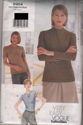 9904 Sewing Pattern Vogue Ladies Top 6 8 10