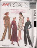 8584 Sewing Pattern McCall's Ladies Dress and Jumpsuit 4 6 8