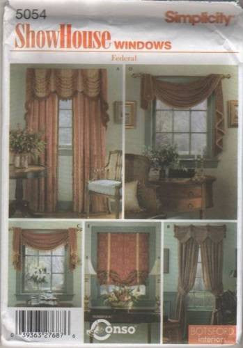 *5054 Sewing Pattern Window Treatment Roman Shade Swag Valance Drapes