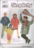 9871 Sewing Pattern Kids Stadium Coat Jacket S M L