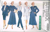 4652 Sewing Pattern Butterick Ladies Flared Skirt Top Jacket Pants 6 8 10