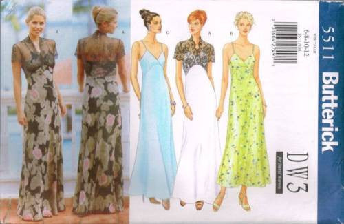*5511 Sewing Pattern Butterick Dress Gown 6 8 10 12