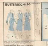 4196 Sewing Pattern Vintage Butterick Ladies Placket Front Dress 6 8 10