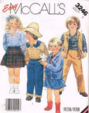 3246 Sewing Pattern McCall's Western Cowboy Shirt Skirt Pants Jean Jacket 3