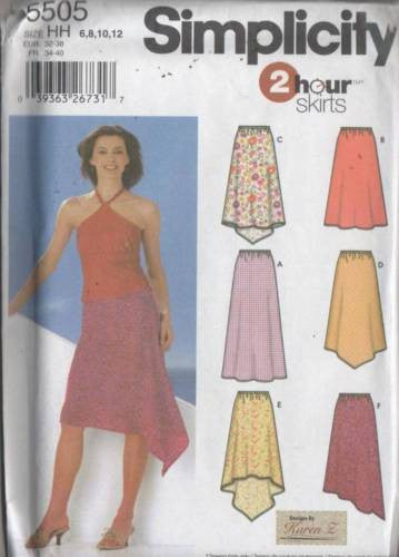*5505 Sewing Pattern McCall's Ladies Skirt Skirts 6 8 10 12
