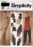 9868 Sewing Pattern Ladies Oriental Tunic Top Top Pants Skirt 6 8 10 12