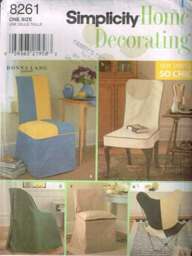 8261 Sewing Pattern Chair Covers