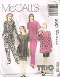 5681 Sewing Pattern McCall's Maternity Trio Jumpsuit Smock Tunic Skirt 8 10 12