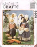 8609 Sewing Pattern Fabric Stuffed Bunny Rabbit w Clothes Michelle Hains 18""