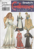5375 Sewing Pattern Ladies Costume Witch Pioneer Angel Maiden XS S M L
