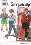 7956 Sewing Pattern Kids Boys Shirt Pants Shorts 3 4 5 6