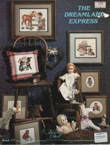 "*Cross Stitch Patterns ""Dreamland Express"" Kids Pony Lamb Dog Teddy Plus More"
