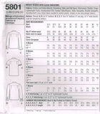 *5801 Sewing Pattern Ladies Blouse Shirt 16 18 20 22 24