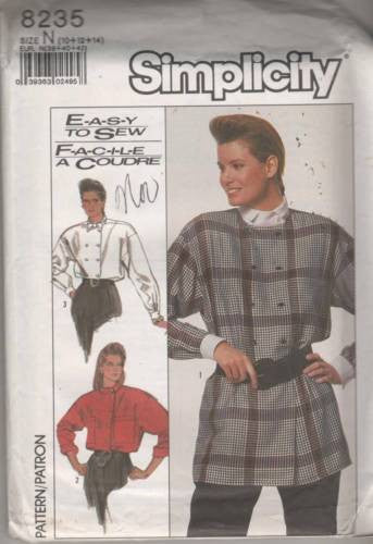 8235 Sewing Pattern Ladies Double Breasted Blouse Jacket 10 12 14