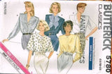 5780 Sewing Pattern Vintage Butterick Ladies Blouse 14 16 18