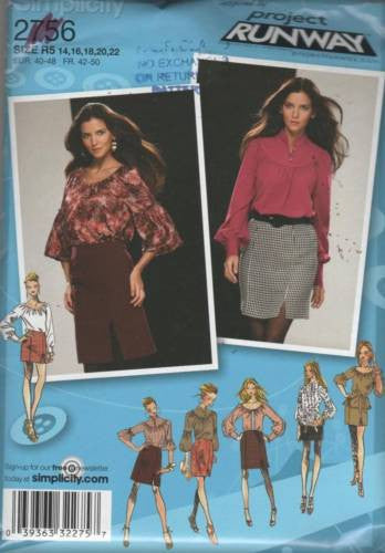 *2756 Sewing Pattern Ladies Gothic Style Blouse Skirt 14 16 18 20 22