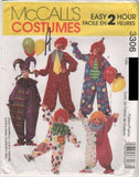 3306 Sewing Pattern McCall's Costume Adult Circus Clown Clowns Jester Large 38-4