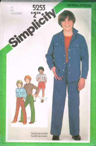 5253 Sewing Pattern Vintage Boys Jacket Shirt Shorts and Pants 10
