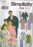 *5364 Sewing Pattern Adult and Child Unisex Robe Pants XS-L, XS-XL