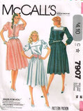 7907 Sewing Pattern McCall's Ladies Sailor Collar Dress 12