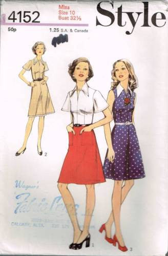 4152 Vintage Sewing Pattern Style Ladies Dress with Collar 10