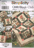 9371 Sewing Pattern Quilt Block Club Lesson #5 Schoolhouse & Sunbonnet
