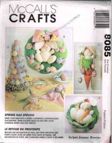 8085 / 771 Sewing Pattern McCall's Easter Bunny Rabbit Cabbage Egg Tree