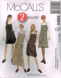 *2864 Sewing Pattern McCall's 2 Hour Ladies Jumper 4 6 8