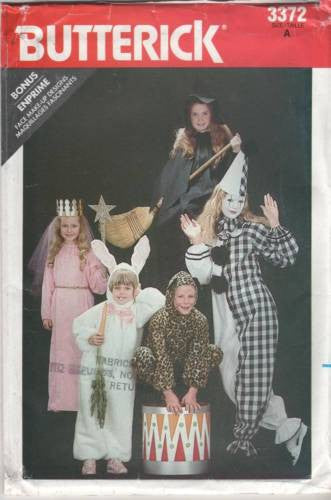 3372 Vintage Butterick Childs' Costume Pattern Witch, Princess, Bunny Rabbit,