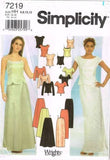 *7219 Sewing Pattern Ladies Two Piece Wedding Bridal Grad Prom Gown 6 8 10 12