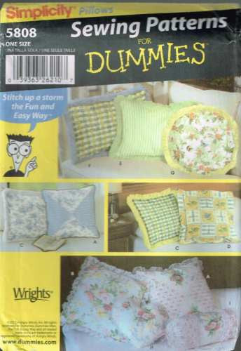 *5808 Sewing Pattern Pillows Cushions Pillow Cushion