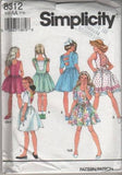 8312 Sewing Pattern Girls Dress with Back Variations 7 8 10