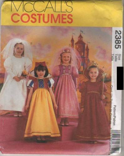 *2385 Sewing Pattern McCall's Costume Girls Storybook Snow White Bride Princess Q