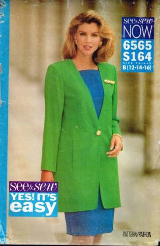 6565 Sewing Pattern Butterick Ladies Dress and Jacket 12 14 16