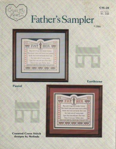 Cross Stitch Pattern Cross My Heart Father's and Mother's Sampler 2 Leaflets